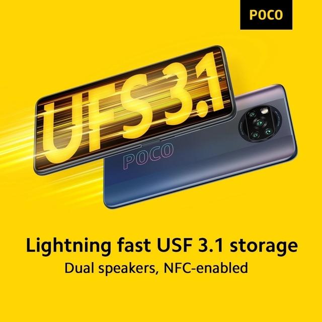 POCO X3 Pro NFC EAC Version 8GB 256GB RU Smartphone Snapdragon 860 120Hz 48MP AI Camera 5160 Battery 33w Charging 6