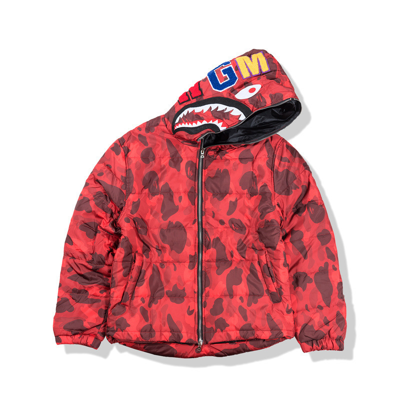 2018 Autumn And Winter New Style Japanese-style Popular Brand Camouflage Cotton Coat Animal Avatar Printed Casual Warm Cotton Co