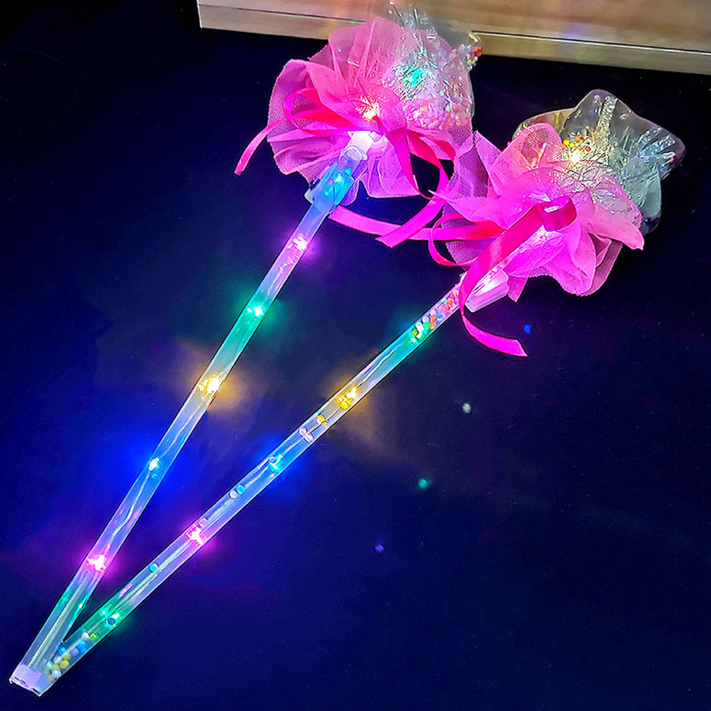 Christmas Light-up Magic Ball Wand Glow Stick Witch Wizard LED Wands Rave Great For Birthdays Princess Costume Random Color
