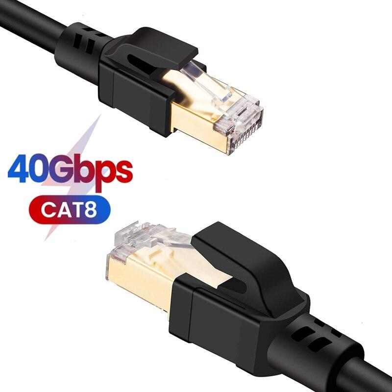 CAT8 Ethernet кабель CAT8 40 Гбит/с 2000 МГц кошки 8 сетевой SFTP Интернет сетевой шнур для ноутбуков PS 4 маршрутизатор RJ45 кабель дома Ethernet