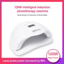 120W lampa LED UV do paznokci lampa żel do paznokci suszarka Cure Manicure urządzenie do paznokci narzędzia do paznokci paznokci UV lampa do paznokci Salon artystyczny narzędzia do paznokci tanie tanio CN (pochodzenie) as show