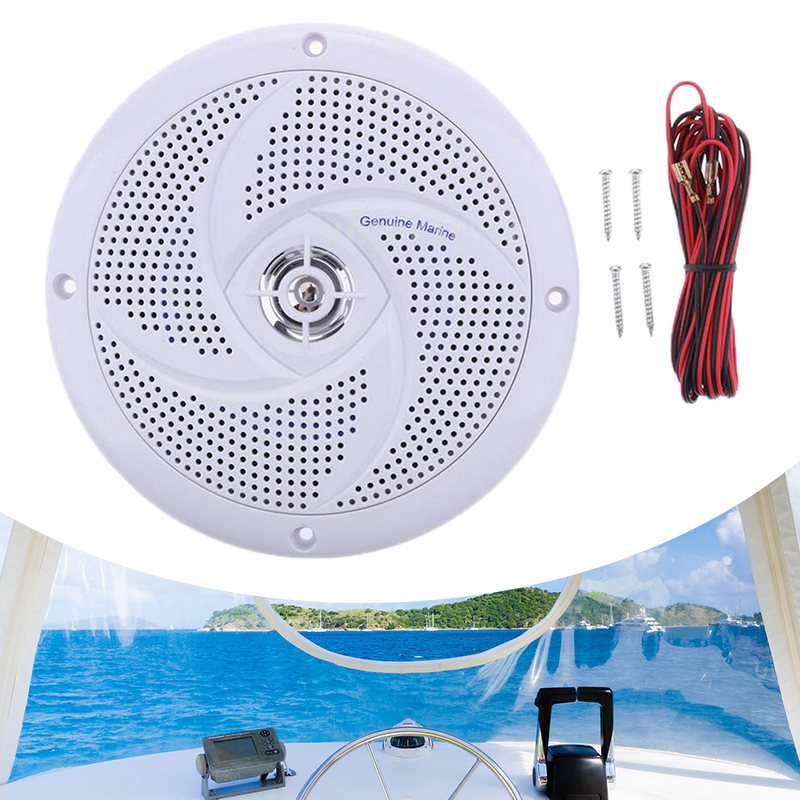 White Waterproof Round Speaker Loudspeaker Sound System For Boat Marine Car RV Boat Sound System Ultraplate Speaker Horn