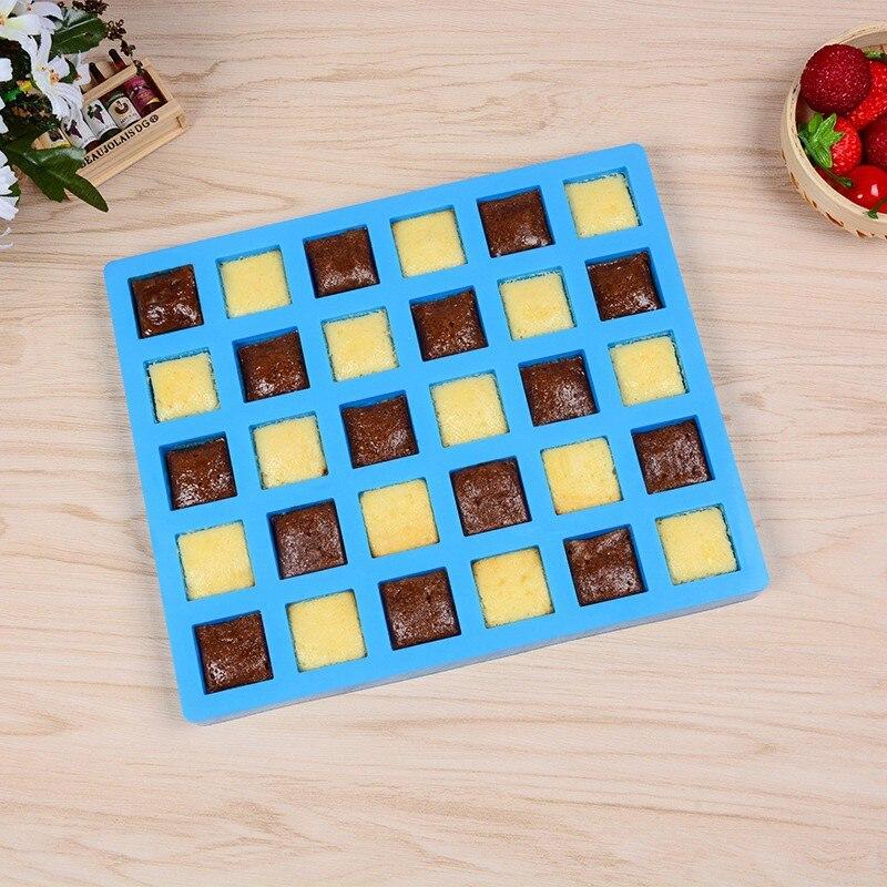 Çikolata kalıp şeker kalıpları kare karamelli şeker silikon kalıplar çikolata Truffles kalıp çikolata pişirme kalıp şeker title=