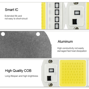 Image 5 - LED 성장 COB 칩 Phyto 램프 전체 스펙트럼 AC220V 10W 20W 30W 50W 실내 식물 모 종 성장 및 꽃 성장 Fitolamp