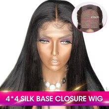 Sassoon Bob 13*4 Короткие прямые парики из натуральных волос на кружеве для женщин, черные бразильские волосы Remy, предварительно сорванные