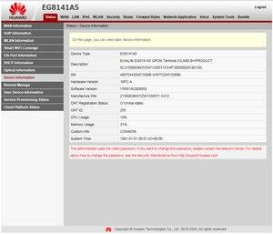 Image 5 - Original hua wei eg8141a5 gpon onu ftth modem roteador 1ge + 3fe 1tel wifi com software inglês mesma função que hg8546m