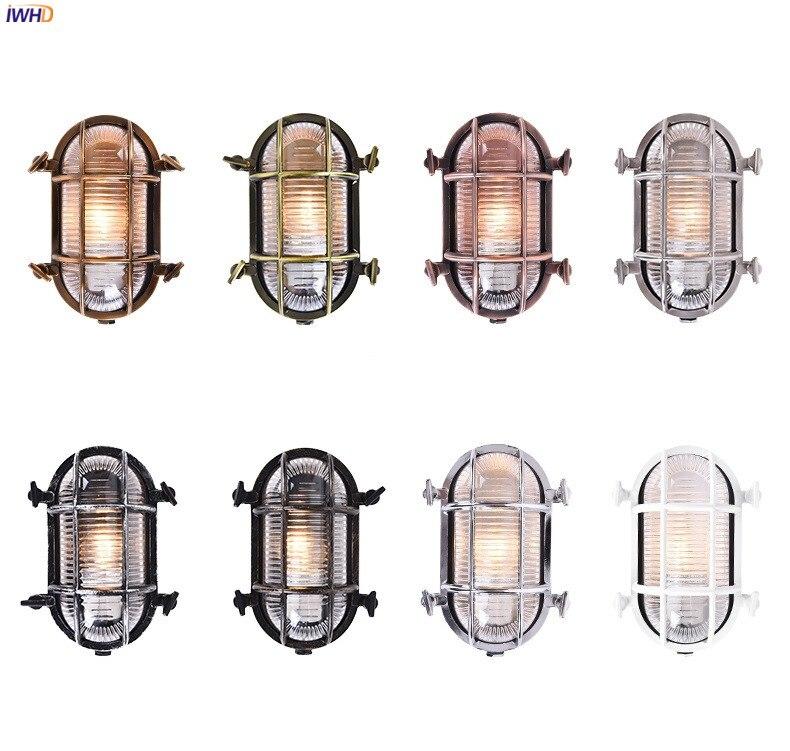 IWHD Loft Industriale Lampada Da Parete per Esterni Portico Balcone Giardino Impermeabile IP44 Luce Della Parete del LED Lampade escursione e campeggio buitenlamp esterno 2