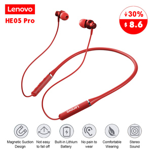 Lenovo HE05 Pro Wireless Bluetooth 5.0 Earphone In-ear Gaming Headset IPX5 Waterproof Sport Headphone with Noise Cancelling Mic