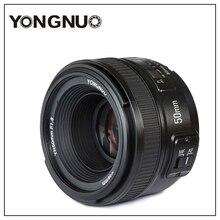 Yongnuo YN50mm F1.8 C/N عدسة Apeature كبيرة التركيز التلقائي لكانون نيكون dslr كاميرا 500d 600d 120d d5100 d5200 d7000 d3500 d90 d3
