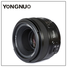 Yongnuo YN50mm F1.8 C/N Lens Large Apeature Auto Focus for canon nikon dslr camera 500d 600d 120d d5100 d5200 d7000 d3500 d90 d3