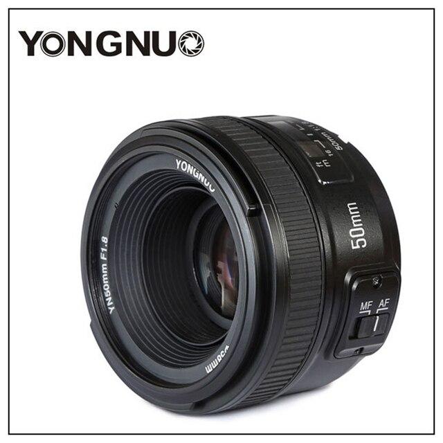 Yongnuo YN50mm F1.8 C/N Ống Kính Lớn Apeature Tự Động Lấy Nét Cho Canon Nikon DSLR Camera 500D 600D 120D D5100 D5200 D7000 D3500 d90 D3