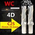 WC C25 4D SD 21 22 23 24 25 мм Сменные вставные сверла U сверлильный инструмент с мелким отверстием для WC04