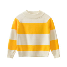 2019 Autumn Winter Striped Knitted Sweater Warm Baby Girl Clothes & Boy Cotton-Padded For 2-8 Years