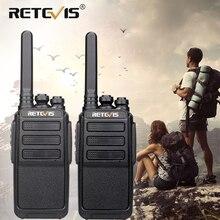 Para RETEVIS RT28 Walkie Talkie PMR Radio VOX PMR446 FRS Micro USB ładowanie przenośny Mini dwukierunkowy radiotelefon