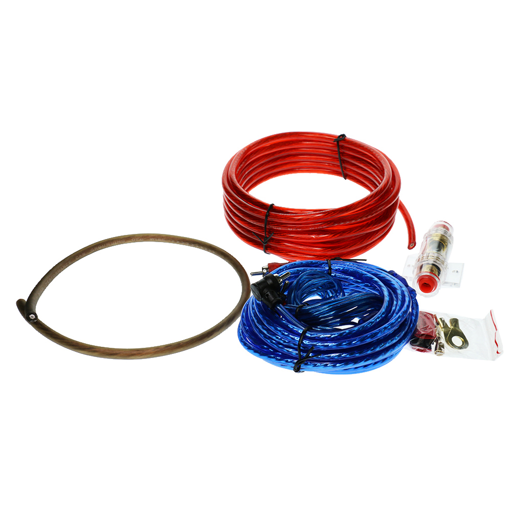 4pcs Replacement Car Stereo Audio Subwoofer Amplifier Wiring Cable Set| |   - title=