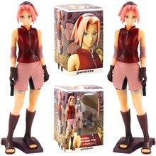 Figura de acción de Naruto Shippuden Haruno Sakura, Anime nuevo Giandista de 25cm, modelo de figura de acción de PVC hecho a mano, 2 estilos a elegir