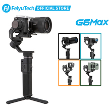 FeiyuTech 공식 G6 Max 3 축 핸드 헬드 카메라 Gimbal Stabilizer for RX100 GoPro for GoPro Hero 7 Canon EOSM50 용 스마트 폰