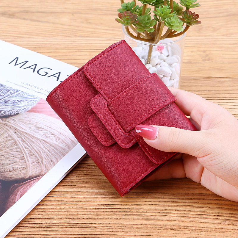 2019 Women Purse Fashion Small Short Leather Wallet Luxury Brand Famous Mini Female Fashion Wallets And Purse Credit Card Holder