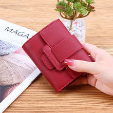 2019 Women Purse Fashion Small Short Leather Wallet Luxury Brand Famous Mini Female Wallets And Credit Card Holder