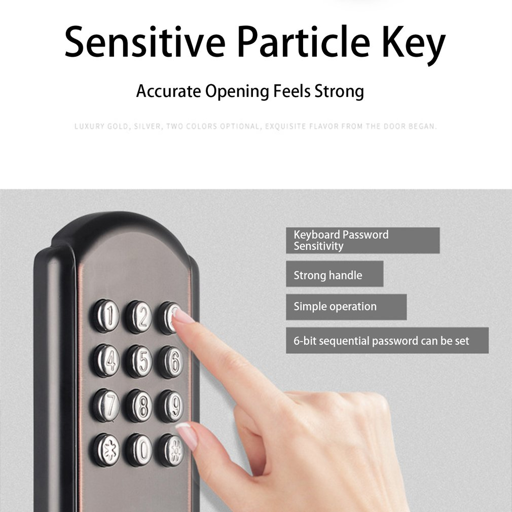 SA18 Digital Password Door Lock Mechanical Code Keyless Entry Door Lock Stainless Steel Waterproof Electronic Lock