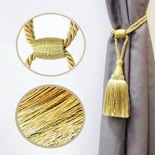 1 шт золотистый держатель для штор с кисточками