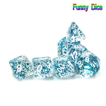 Amazing-Effect Dice-Set Glitter-Powder Boardgame RPG D4 Game-Pieces Dnd 6 8 for 10-10%12-20