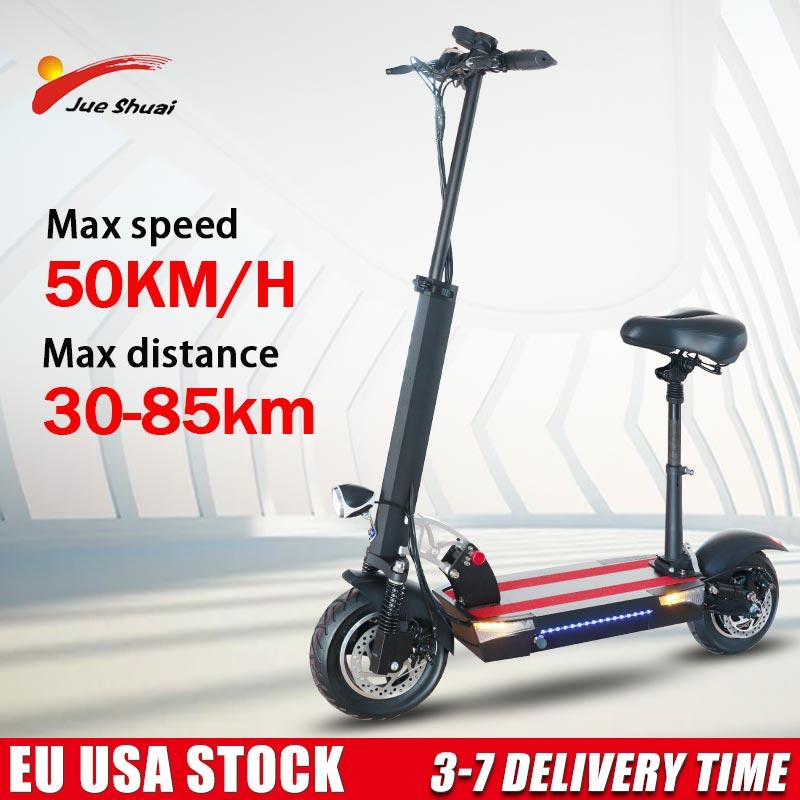 Tragbare Elektrische Roller Erwachsene 500 W 45 km/h Klapp Kick E-roller EU Lager E-Roller Hinteren Motor motorisierte Tretroller