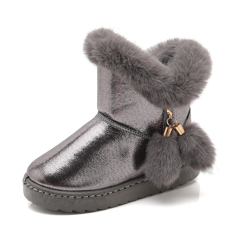 SKHEK Boys Shoes Boots Camouflage Winter Style Full Plus Size 25 36 Snow Boot Antiskid Sole Children Warm Thick Fur
