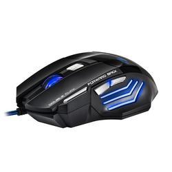 Ergonomiczna przewodowa mysz do gier LED 5500 DPI komputer USB mysz mysz dla gracza X7 cicha mysz z podświetleniem na PC Laptop