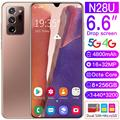 Newest N28U Smartphone 6.6Inch HD Phone 4800mAh 8g+256g Dual Card Dual Standby Fingerprint Face Unlock Original N28U Cellphone