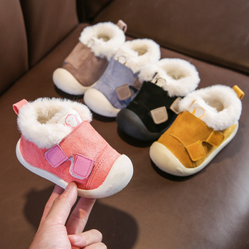 Infant Toddler Boots Winter Warm Plush Baby Girls Boys Snow Boots Outdoor Comfortable Soft Bottom Non-Slip Child Kids Shoes 2016 winter new kids boots girls boys super perfect school outdoor free shipping chaussure snow boots super soft and comfortable