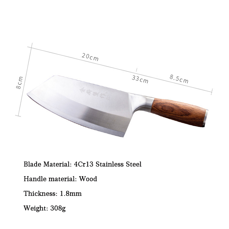 Image 2 - SHUOJI 4Cr13 Chef Knife 7 inch Chinese Kitchen Knives Meat Fish Vegetable Sliing Knife Super Sharp Blade Rosewood Hadle CleverKitchen Knives   -
