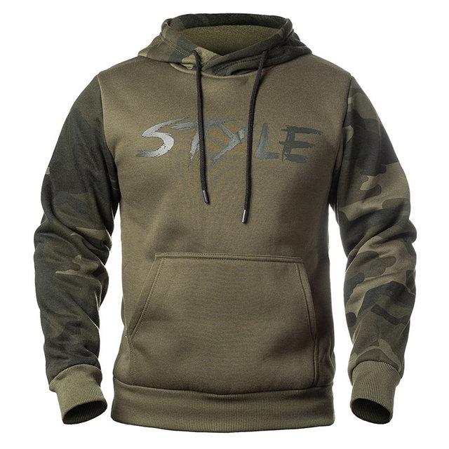 Plus Size Hoodies Camouflage Sweatshirt Men Hip Hop Cotton Tracksuit Sweat Hoodies Male Camo Hoody Military Hoodie US/EUR Size