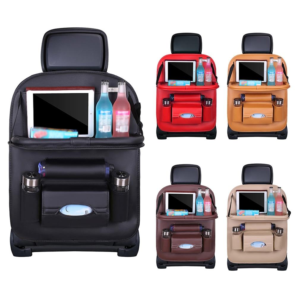 Car Back Seat Organiser Multi Pocket Storage Travel Trip Tidy Bag Foldable Table