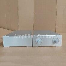 1PCS Silver Aluminum Amplifier Chassis Box Pre Power Amplifier Case All Aluminum Amplifier Enclosure AP52