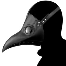 Cosplay Costume Mask Plague Doctor Steam Bird Unusual Latex Halloween Party Prop Black White