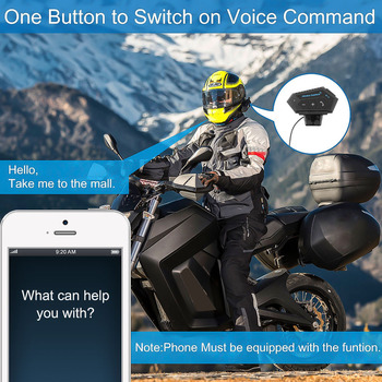 T2 Moto bluetooth Wireless Noise cancel Helmet Headset Hands Free BT V4.2 Intercom Handsfree With Microphonefor Motorcycle