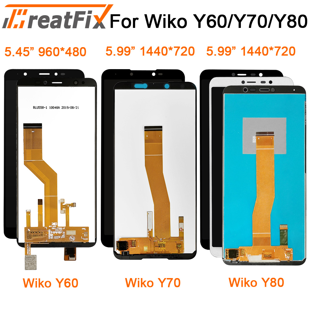 Original Tested For Wiko Y50 Y60 Y70 Y80 LCD Touch Screen LCD Display Assembly Replacement Lcd For Wiko Y80 Jerry 4 Screen