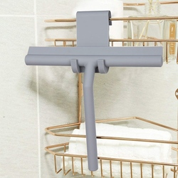 Wycieraczka prysznicowa wycieraczki do szyb skrobak do czyszczenia z silikonowym ostrzem i haczyk do zawieszania do łazienki/kuchni/szkła samochodowego/lusterka/drzwi/ w Ściągaczki od Dom i ogród na