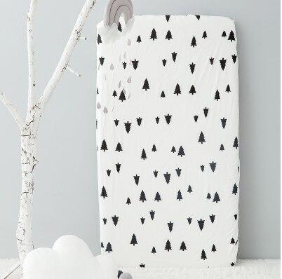 Хлопок, простыня для кроватки, мягкий матрас для детской кровати, защитный чехол, мультяшное постельное белье для новорожденных - Цвет: 3