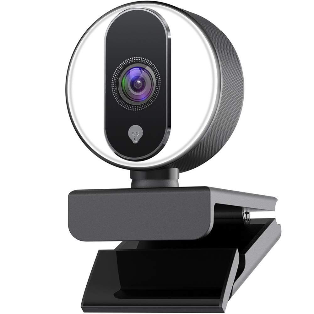 Webcam HD 1080P intégré anneau réglable lumière Autofocus USB Web caméra pour ordinateur portable bureau chat jeu Skype Stream Web Cam