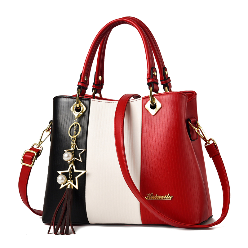 Handbags for Women with Multiple Internal Pockets in Pretty Color Combination 1