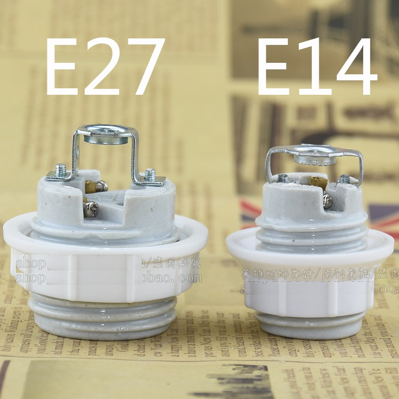 Lampholder Ceramic E27 Bulb Base Socket Lamp Holder