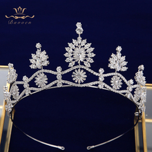 Gold\Silver Princess Zircon Bridal Tiaras Headpiece Crystal Crown Headbands Wedding Dress Wedding Hair Accessory недорого