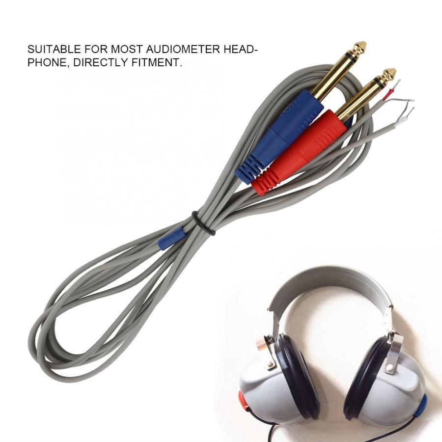 Ear Care Tool 2.0m Length Audiometer Headset Headphone Earphone Cable Wire Headphone Accessory Health Care