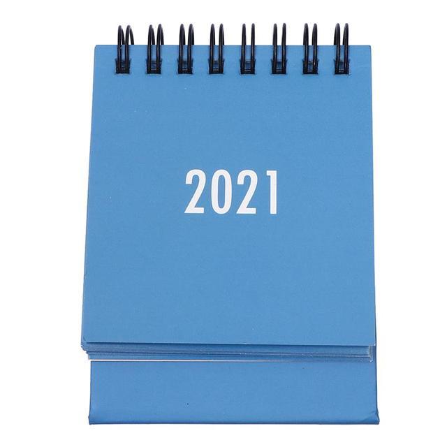 2021 Desktop Calendar Foldable Coil Calendar Home Office School Desk Decor