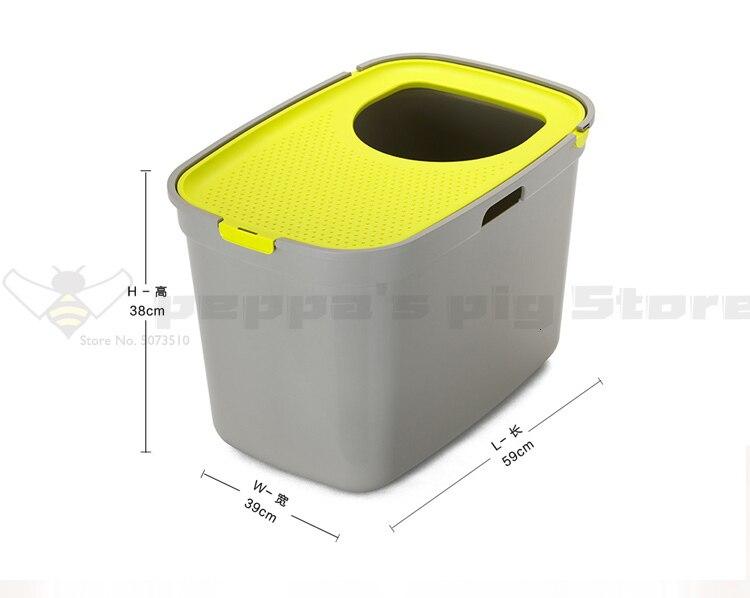 1 полузакрытый верхний тип входа для предотвращения большого кошачьего туалета cat Sander