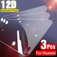 3 piezas de vidrio templado para Huawei P30 P40 P20 Lite Pro P10 Plus P Smart 2019 Protector de pantalla para Huawei Mate 30 20 10 Lite de vidrio
