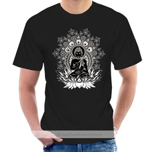 Mens Black Om Aum Yoga Buddha Chakra Meditation India Hobo Boho T-Shirt Round Neck Tee Shirt @007121