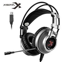 XIBERIA K9 7.1 Vibration USB Gaming Headset Headphones Deep Bass LED Light Headsets With Microphone For PC Gamer(Silver)